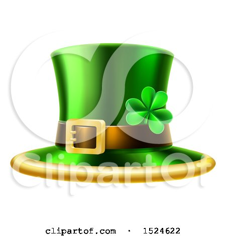Clipart of a St Patricks Day Leprechaun Hat - Royalty Free Vector Illustration by AtStockIllustration