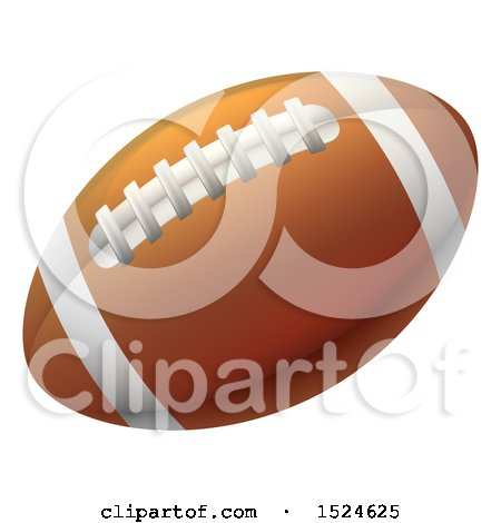 Clipart of a Brown American Football - Royalty Free Vector Illustration by AtStockIllustration
