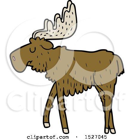 Cartoon Moose by lineartestpilot