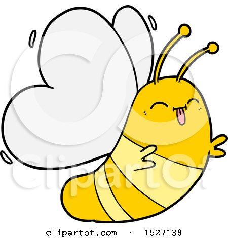 Funny Cartoon Butterfly by lineartestpilot