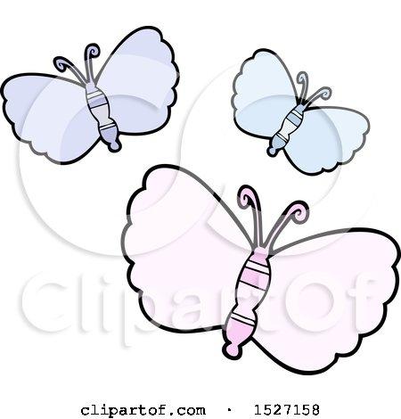 Cartoon Butterflies by lineartestpilot