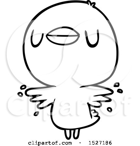 Cartoon Chick Flapping Wings Posters, Art Prints
