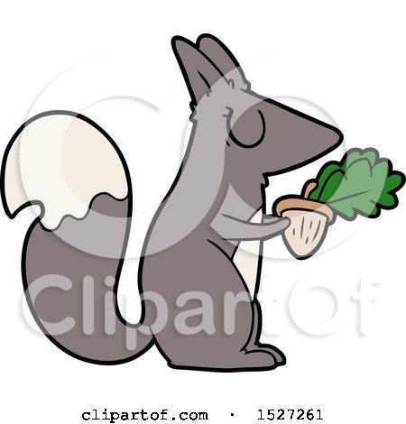 Cartoon Squirrel by lineartestpilot