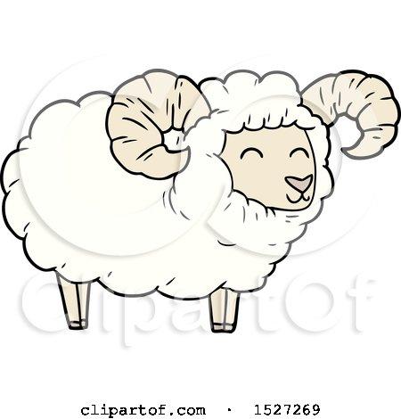 Cartoon Ram by lineartestpilot