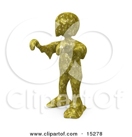 Person With Their Arms Out Covered In Toxic Waste And Walking Like A Zombie, Or A Swamp Monster Clipart Illustration Image by 3poD