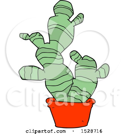 Cartoon Cactus by lineartestpilot