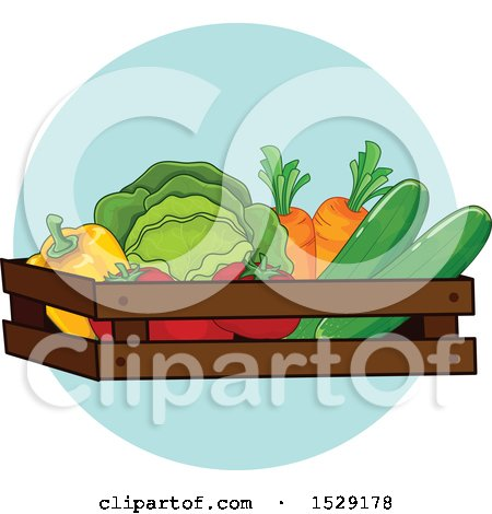 Clipart of a Produce Farming Agriculture Icon - Royalty Free Vector Illustration by BNP Design Studio