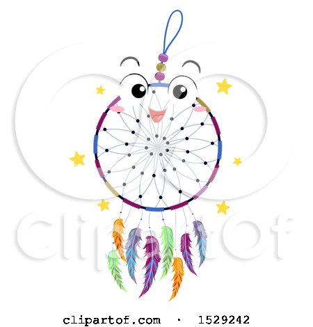 Clipart of a Happy Dream Catcher Character - Royalty Free Vector Illustration by BNP Design Studio
