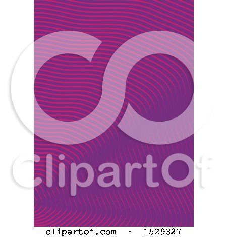 Clipart of a Purple Waves Background - Royalty Free Vector Illustration by KJ Pargeter