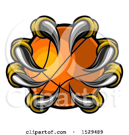 Clipart of Eagle Claws Grasping a Basketball - Royalty Free Vector Illustration by AtStockIllustration