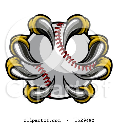 Clipart of Eagle Claws Grasping a Baseball - Royalty Free Vector Illustration by AtStockIllustration