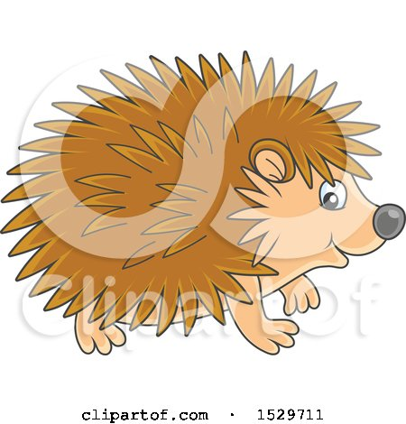 Clipart of a Cute Hedgehog - Royalty Free Vector Illustration by Alex Bannykh