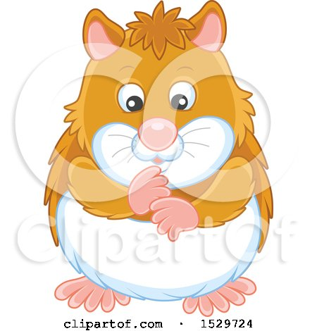 Clipart of a Cute Hamster - Royalty Free Vector Illustration by Alex Bannykh