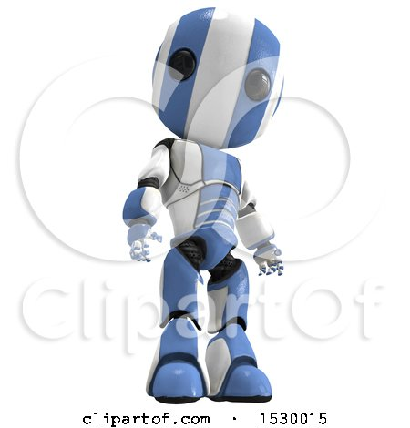 Clipart of a 3d Ao Maru Robot - Royalty Free Illustration by Leo Blanchette