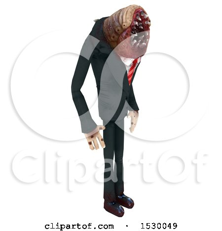 Clipart of a 3d Professional Parasite - Royalty Free Illustration by Leo Blanchette