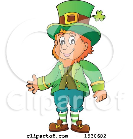 Clipart of a St Patricks Day Leprechaun - Royalty Free Vector Illustration by visekart