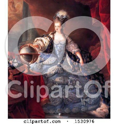Illustration of Queen Marie Antoinette by JVPD