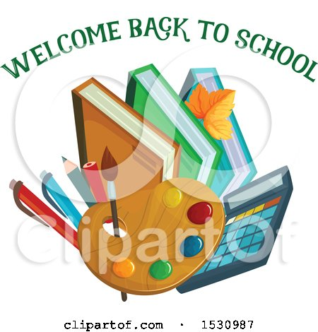 Clipart of a Welcome Back to School Design - Royalty Free Vector Illustration by Vector Tradition SM
