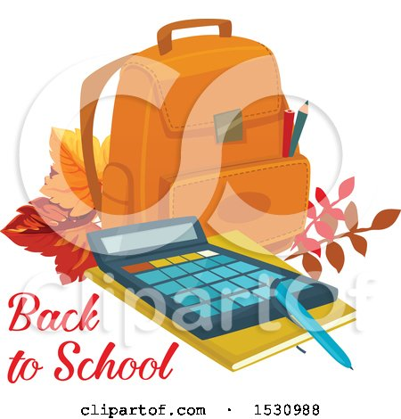 Clipart of a Back to School Design - Royalty Free Vector Illustration by Vector Tradition SM