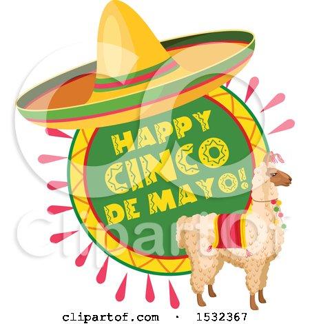Clipart of a Cinco De Mayo Llama - Royalty Free Vector Illustration by Vector Tradition SM