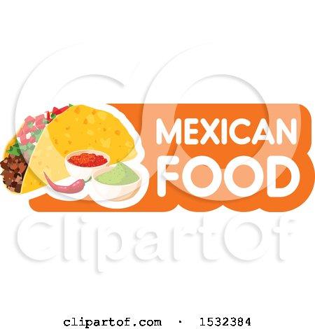 Clipart of a Cinco De Mayo Mexican Taco - Royalty Free Vector Illustration by Vector Tradition SM