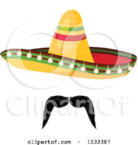 Clipart of a Cinco De Mayo Mexican Sombrero - Royalty Free Vector Illustration by Vector Tradition SM