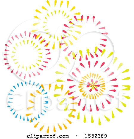 Clipart of Cinco De Mayo Fireworks - Royalty Free Vector Illustration by Vector Tradition SM
