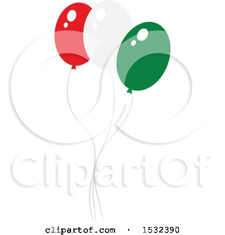 Clipart of Cinco De Mayo Party Balloons - Royalty Free Vector Illustration by Vector Tradition SM