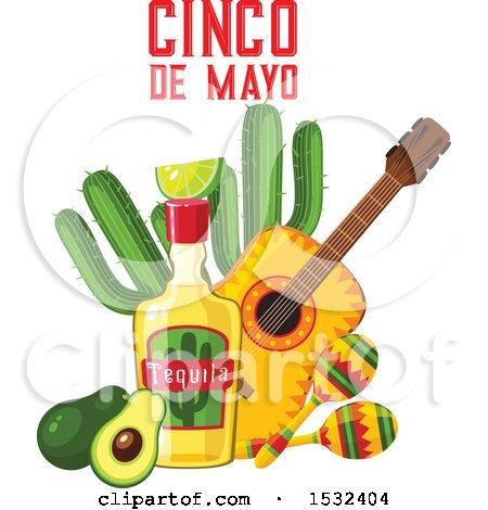 Clipart of a Cinco De Mayo Design - Royalty Free Vector Illustration by Vector Tradition SM