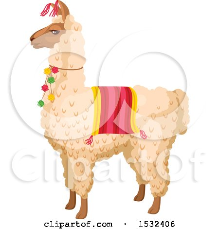Clipart of a Cinco De Mayo Llama - Royalty Free Vector Illustration by Vector Tradition SM