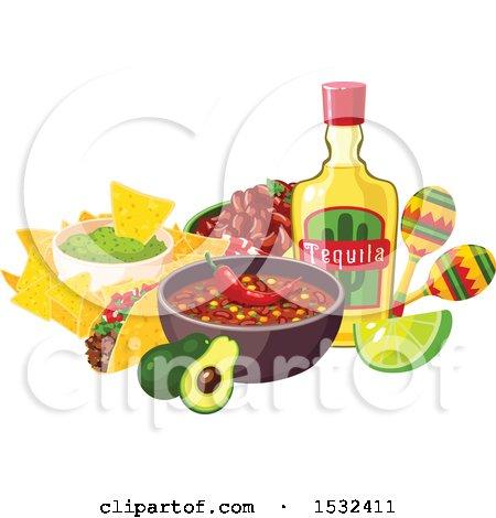 Clipart of a Cinco De Mayo Food Design - Royalty Free Vector Illustration by Vector Tradition SM