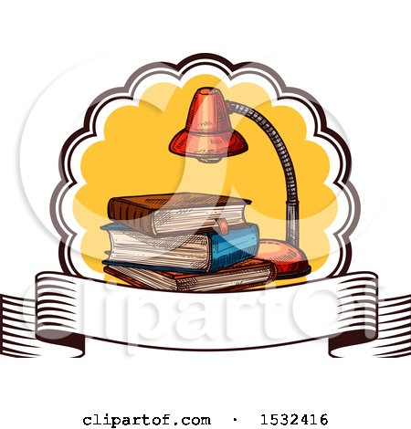 Clipart of a Sketched Back to School Book Design - Royalty Free Vector Illustration by Vector Tradition SM