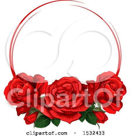 Clipart of a Red Rose Design - Royalty Free Vector Illustration by Vector Tradition SM