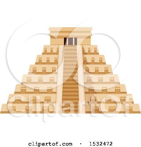 Clipart of El Castillo Pyramid - Royalty Free Vector Illustration by Vector Tradition SM