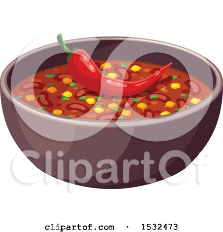 Clipart of a Bowl of Chile - Royalty Free Vector Illustration by Vector Tradition SM