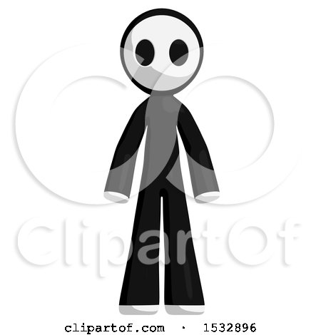 Clipart of a Maskman - Royalty Free Illustration by Leo Blanchette