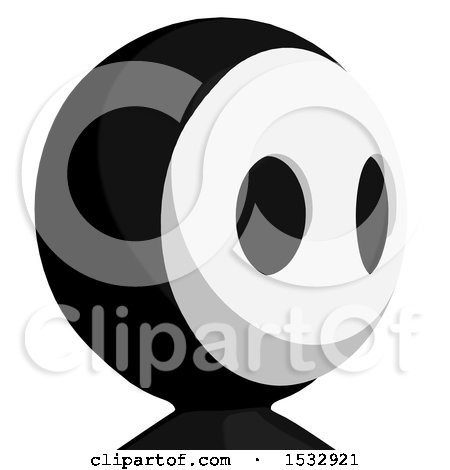 Clipart of a Maskman Avatar Facing Right - Royalty Free Illustration by Leo Blanchette