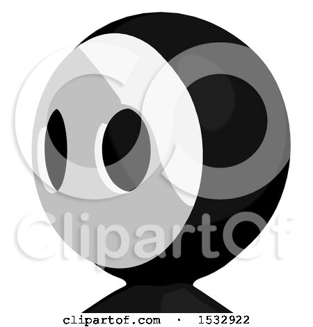 Clipart of a Maskman Avatar Facing Left - Royalty Free Illustration by Leo Blanchette