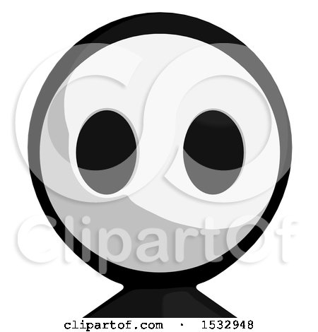 Clipart of a Maskman Avatar - Royalty Free Illustration by Leo Blanchette