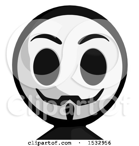 Clipart of a Little Anarchist Avatar - Royalty Free Illustration by Leo Blanchette