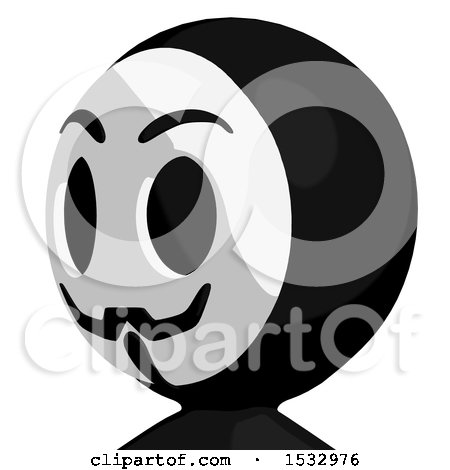 Clipart of a Little Anarchist Avatar Facing Slightly Left - Royalty Free Illustration by Leo Blanchette