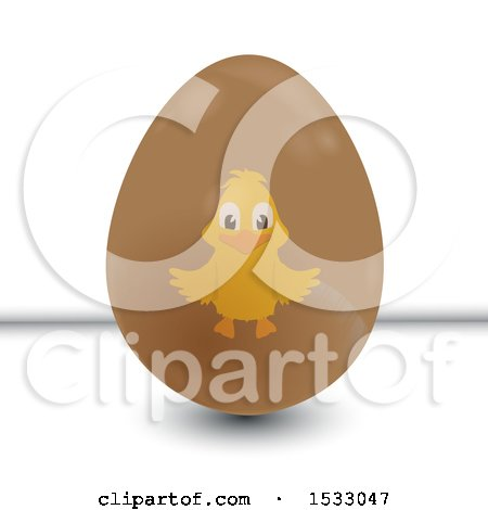 Chick on an Easter Egg Posters, Art Prints