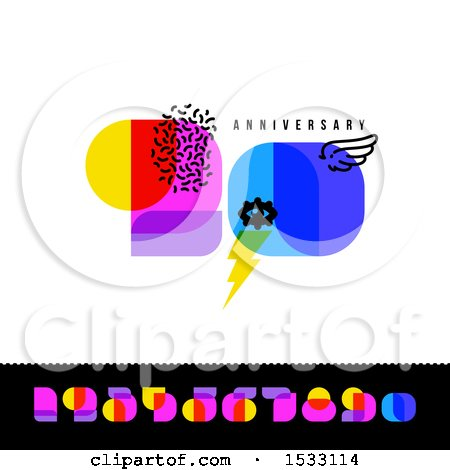 Clipart of a Happy 50th Anniversary Design with Retro Numbers - Royalty Free Vector Illustration by elena