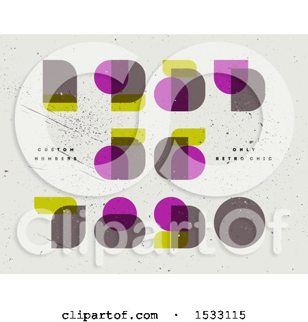 Clipart of Retro Numbers in Neoclassical Didot - Royalty Free Vector Illustration by elena