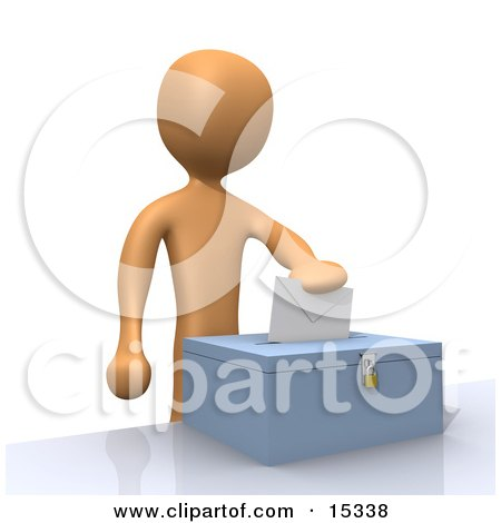 Voter Person Putting Their Voting Envelope In A Ballot Box During A Presidential Election Clipart Illustration Image by 3poD