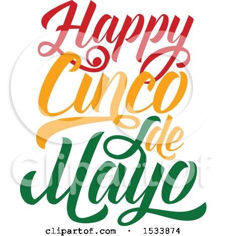 Clipart of a Happy Cindo De Mayo Design - Royalty Free Vector Illustration by Vector Tradition SM