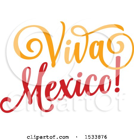 Clipart of a Cindo De Mayo Viva Mexico Design - Royalty Free Vector Illustration by Vector Tradition SM