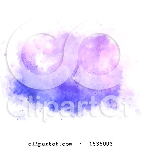 Clipart of a Watercolor Painting - Royalty Free Vector Illustration by KJ Pargeter