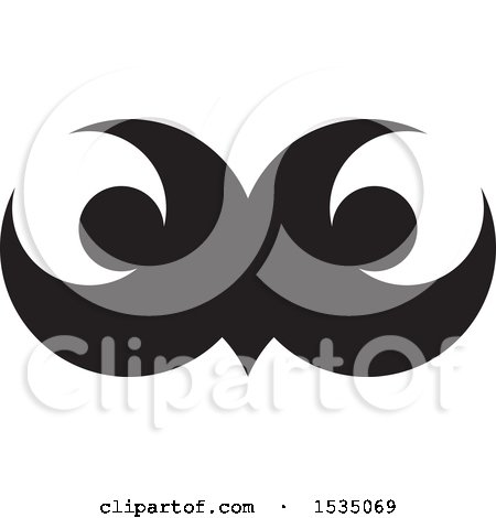Clipart of Black and White Owl Eyes - Royalty Free Vector Illustration by Lal Perera