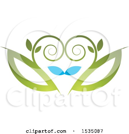 Clipart of a Floral Design - Royalty Free Vector Illustration by Lal Perera